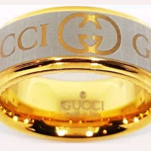GUCCI Ring Gold and Silver size 6 Tungsten Ring